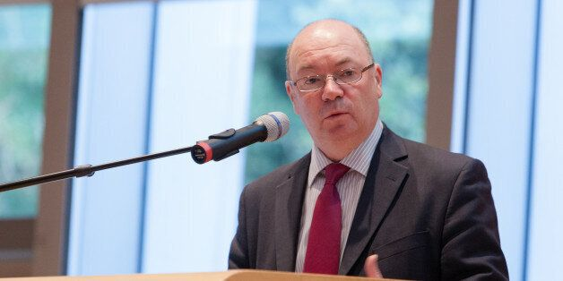 THE HAGUE, NETHERLANDS - NOVEMBER 01: Alistair Burt speaks at the International Commission on Missing...