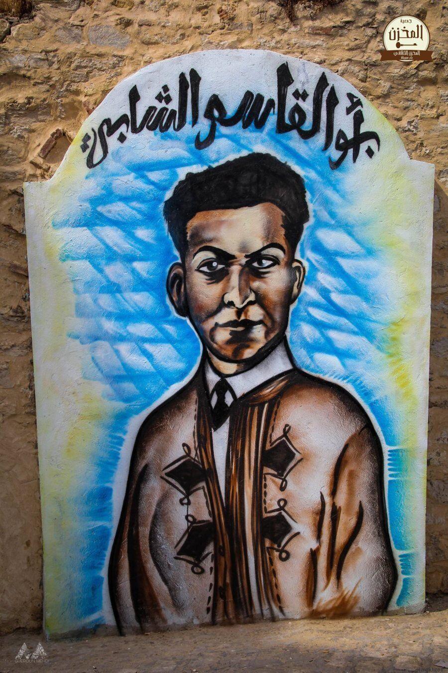 Ces graffitis de célébrités tunisiennes ornent un mur de Bab Souika à Tunis