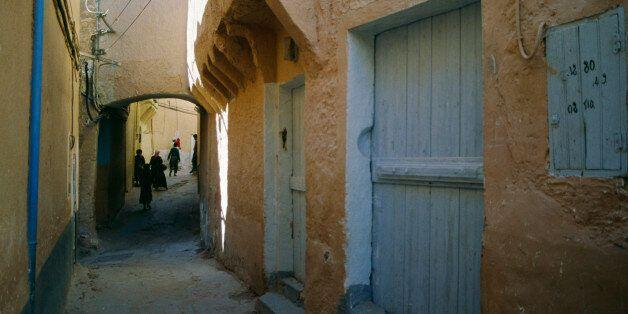 ALGERIA - MAY 05: An alley in Ghardaia, M'Zab Valley (Unesco World Heritage List, 1982), Algeria. (Photo...