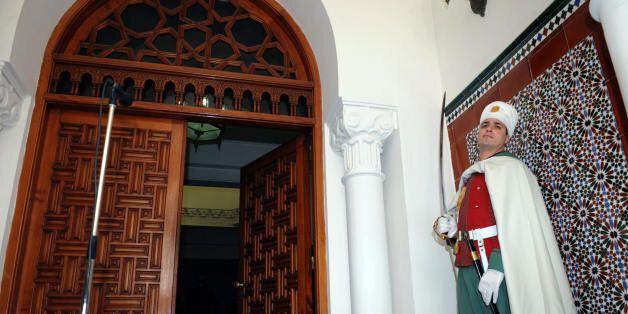An Algerian Presidential guard stands on duty during the meeting of Algerian President Abdelaziz Bouteflika...