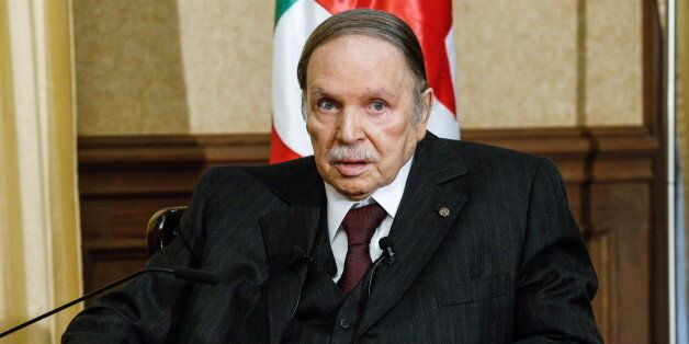 ALGIERS, ALGERIA. FEBRUARY 29, 2016. Algeria's president Abdelaziz Bouteflika during a meeting with the...