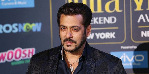 Actor Salman Khan poses for a picture on the Green Carpet at the International Indian Film Academy (IIFA)...