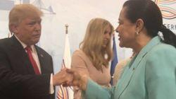 G20: Miriem Bensalah réussit le test de la redoutable poignée de main de
