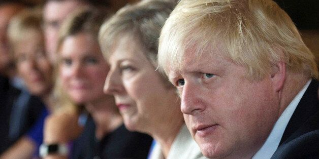 FILE PHOTO - Foreign Secretary Boris Johnson attends a cabinet meeting hosted by Theresa May at the Prime...