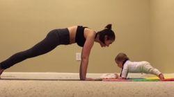 Musculation: Ce bébé de 6 mois fait aussi bien que vous en gainage