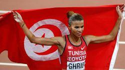 Médaille d'or en 3000 m Steeple pour Habiba Ghribi lors des championnats arabes