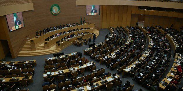 ADDIS ABABA, ETHIOPIA - JUNE 30: General view of the 29th African Union Summit at African Union Conference...