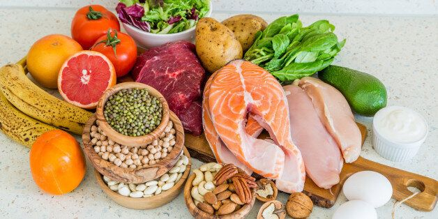 Selection of food for weight loss, copy