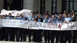 Rassemblement des travailleurs du secteur de la Poste devant l'UGTA pour réclamer un dialogue avec la