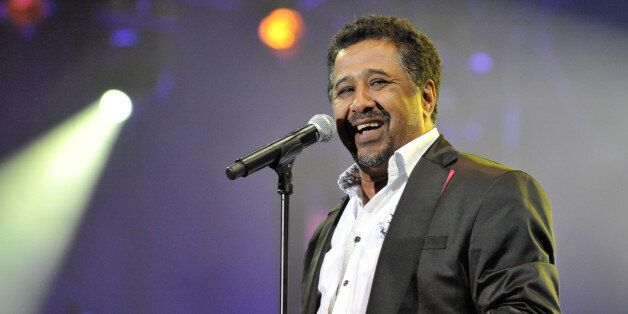 Algerian singer Cheb khaled performs during the 11th edition of the Mawazine International Music festival...