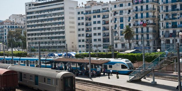 Train station D'Agha in downtown Algeirs, Algeria. (Photo by Monique Jaques/Corbis via Getty