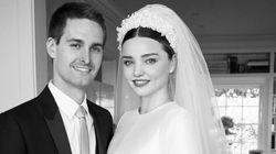 Miranda Kerr dévoile les photos de son mariage avec Evan Spiegel, fondateur de