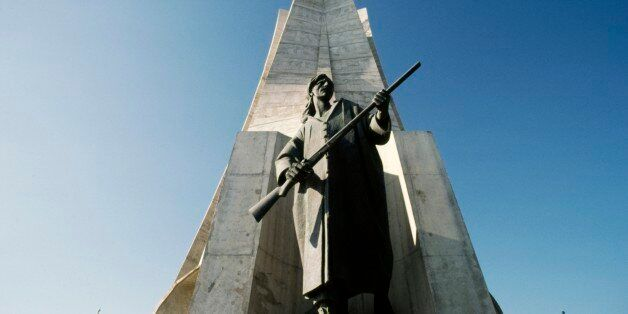ALGERIA - MARCH 5: Maqam Echahid, the Martyrs' Memorial, 1982, commemorating the Algerian war for independence...