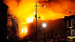Les images du Camden Market à Londres ravagé par un incendie en pleine