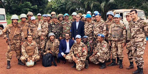 Peacekeepers serving in the United Nations Organization Stabilization Mission in the Democratic Republic...