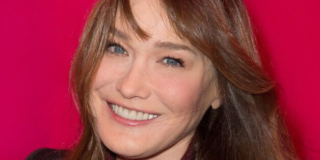 Carla Bruni-Sarkozy attends the Schiaparelli show as part of Paris Fashion Week Haute Couture Spring/Summer...