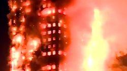 Un incendie spectaculaire éclate dans une tour d'habitation à