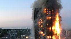 Les images de l'énorme incendie qui a dévasté une tour d'habitations à