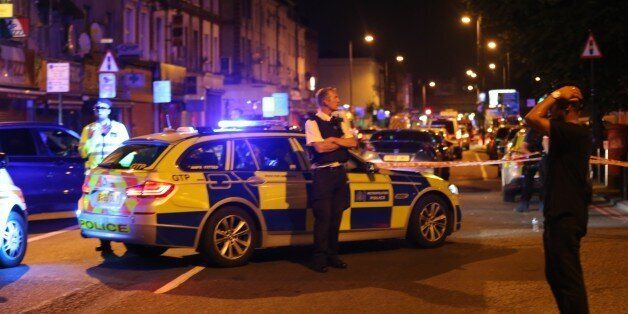 LONDON, UNITED KINGDOM - JUNE 19 : Police take security measures after a vehicle mows down Muslim worshippers...