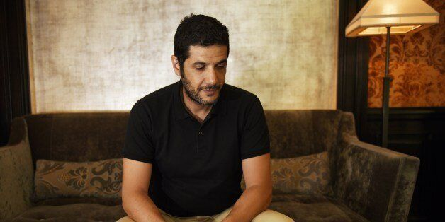 French-Moroccan film director Nabil Ayouch poses on June 19, 2015 in Paris. His last movie 'Much Loved',...