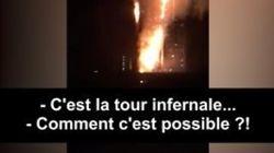 Les commentaires des pompiers dans leur camion en route pour la Grenfell Tower de Londres sont sans