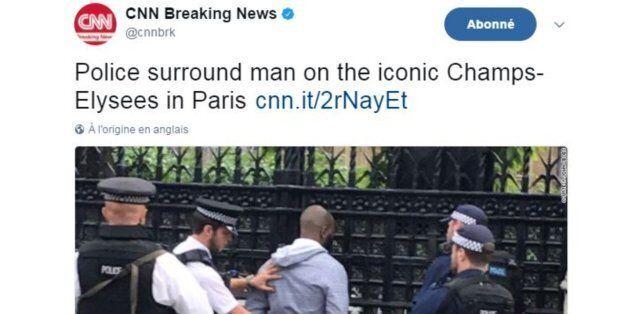 Champs-Élysées: CNN accusé de