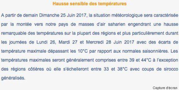 En Tunisie, le thermomètre pourrait grimper jusqu'à 44 degrés pendant les jours de