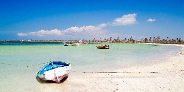 Beach at Chergui island, Kerkennah Islands, Tunisia, North