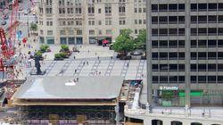 Le toit de ce futur Apple Store est un MacBook
