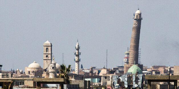 Die umkämpften Al-Nuri-Moschee in Mosul, in der Abu Bakr al-Baghdadi das sogenannte Kalifat ausgerufen...