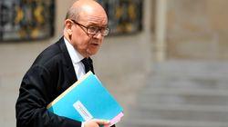 Le ministre des Affaires étrangères français Jean-Yves Le Drian en visite lundi en