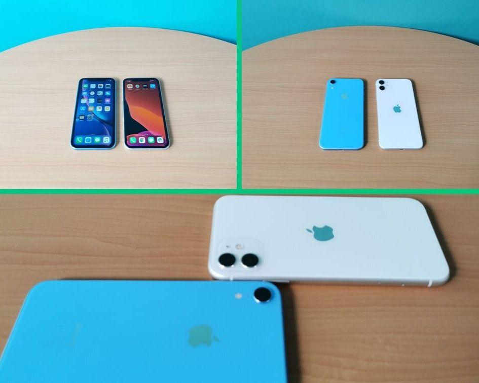Le design de l'iPhone Xr (gauche) et de l'iPhone 11