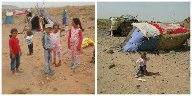 Réfugiés syriens coincés près de