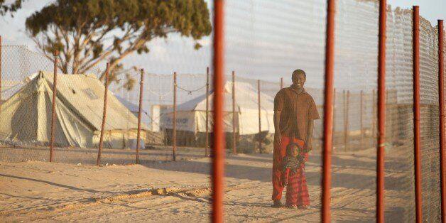 Refugees in Choucha camp, Ras Jedir, Tunisia. (Photo by: Godong/UIG via Getty