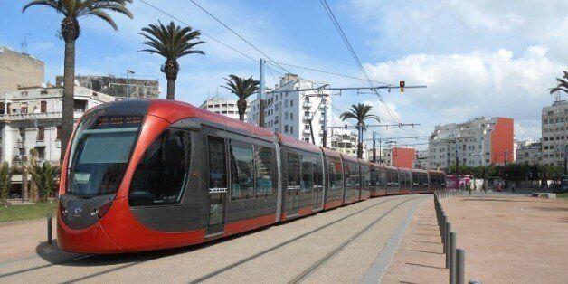Le tramway de Casablanca bloqué par des