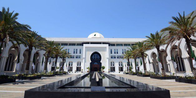 A picture taken on July 16, 2015 shows the Algerian Foreign Affairs ministry in the capital Algiers....