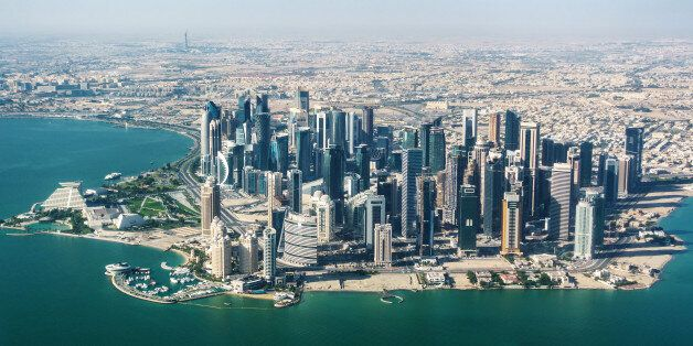 Aerial view of Doha,