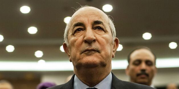 A picture taken on February 2, 2016 shows Abdelmadjid Tebboune during a meeting of the National Liberation...
