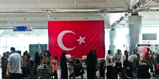 The Istanbul airport Ataturk works under a enhanced measures of security on August 02, 2016 (Photo by...