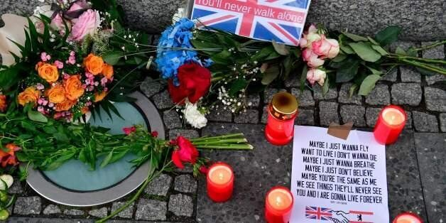 Flowers and candles as tribute to the victims of the June 3 terror attack in London are pictured on June...