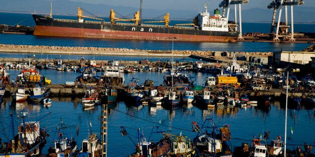 The port of Annaba. (Photo by michel Setboun/Corbis via Getty