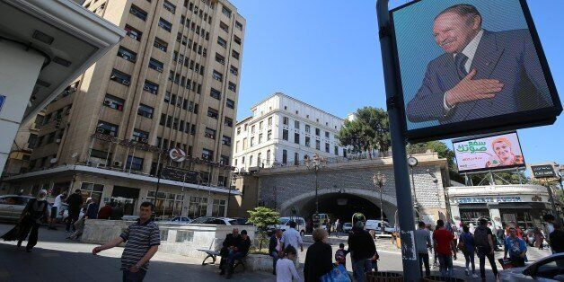 The picture show the Election campaign posters for the upcoming parliamentary elections in Algiers, Algeria,...