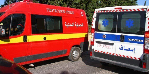 SOUSSE, TUNISIA - JUNE 26: An ambulance seen at the attack site after gunmen stormed a popular tourist...