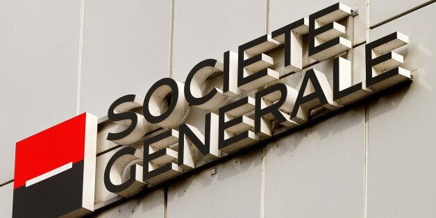 The logo of Societe Generale Private Banking is seen at an office building in Zurich, Switzerland October...