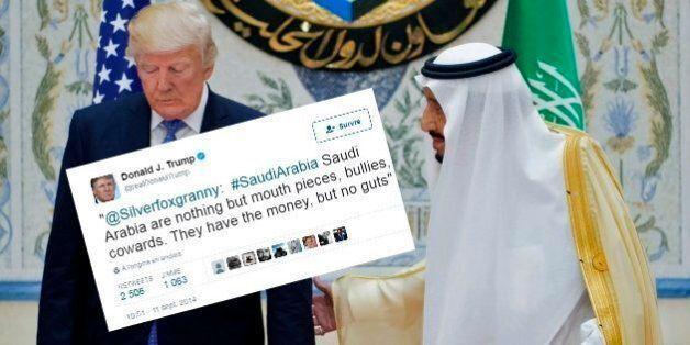 Cet ancien tweet assassin de Trump sur l'Arabie Saoudite lui revient en pleine
