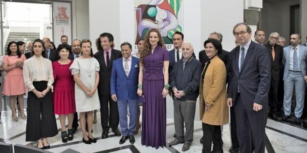 Lalla Salma et Charles Aznavour inaugurent l'exposition