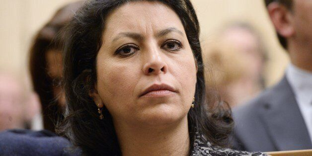 French EELV green party member and Senator of Paris Leila Aichi attends a meeting at the National Assembly...