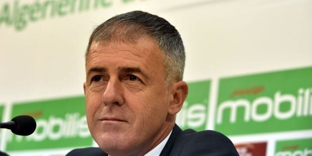 Spanish coach Lucas Alcaraz attends a press conference on April 19, 2017, upon being announced as the...