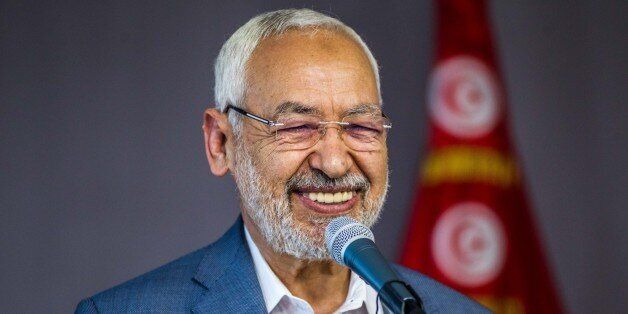TUNIS, TUNISIA - MARCH 10: Leader of Tunisias Ennahda movement, Rached Ghannouchi speaks during an event...