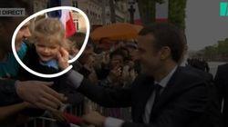 Investiture d'Emmanuel Macron: le bisou présidentiel a rendu cette petite fille folle de